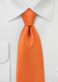Solid Hued Necktie in Orange Sunset