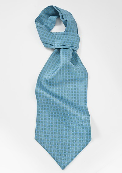 Modern and Graphic Ascot in Teals, Yellows and Greens