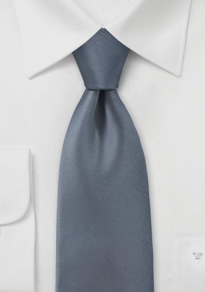 Solid Colored Tie in Carbon Grey
