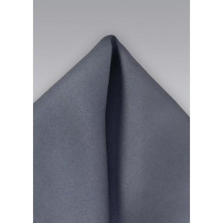 Men's Pocket Square in Carbon Grey