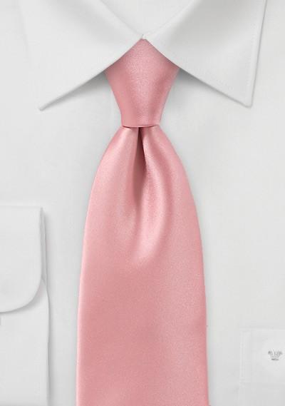 Solid Hued Tie in Peach Sorbet