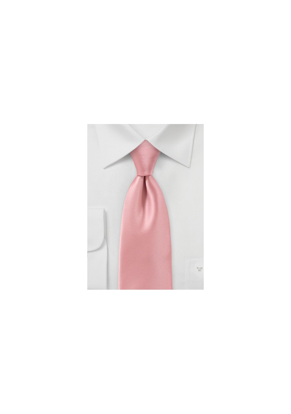 Solid Hued Tie in Peach Sorbet