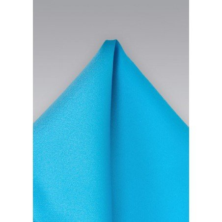Solid Hued Pocket Square in Mermaid Blue