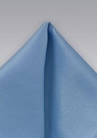 Solid Hued Pocket Square in Mediterranean Blue