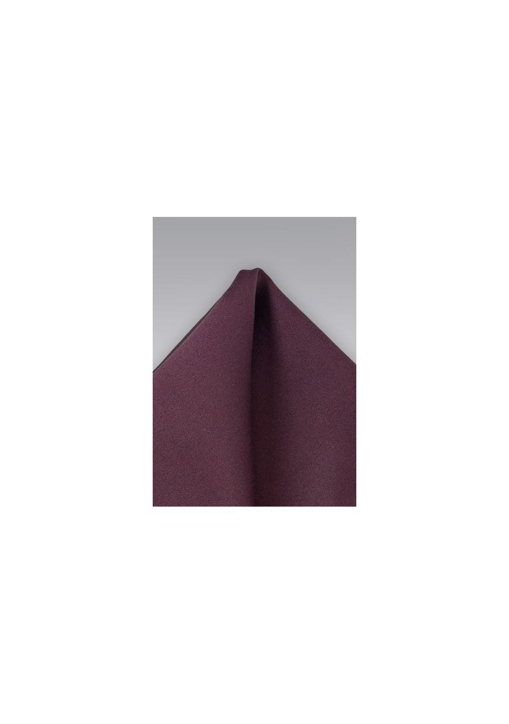 Mahogany Hued Pocket Square