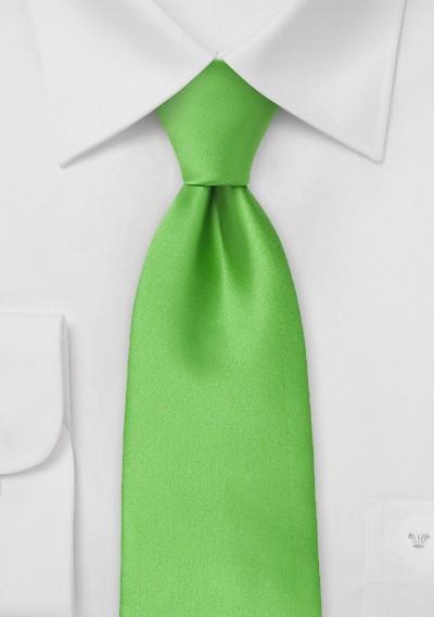 Bright Kelly Green Kids Length Tie