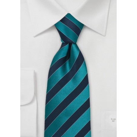 Teal and Royal Blue Kids Tie