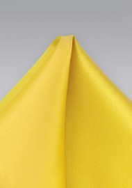 Daffodil Yellow Pocket Square