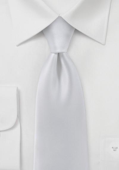Solid White Mens Necktie