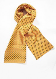 Patterned Scarf on Golden Orange