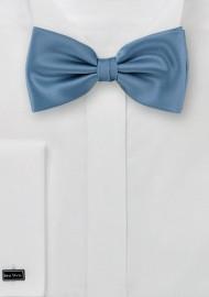 Solid Hued Bow Tie in Mediterranean Blue
