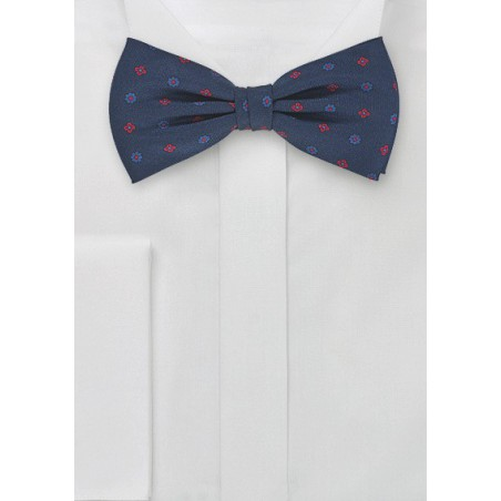 Dapper Bow Tie in Navy and Red