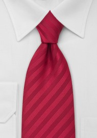 Kids Striped Tie in Cherry