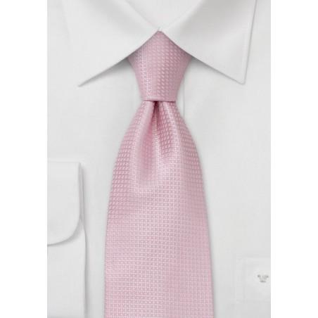 Fine Patterned Kids Tie in Soft Pink