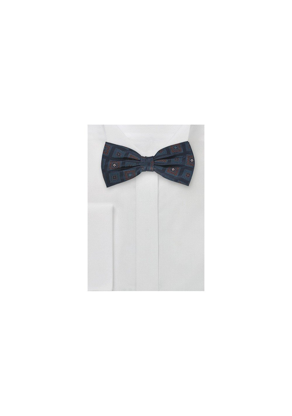 Silk Bow Tie in Navy Blue