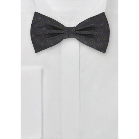 Silk Bow Tie in Dark Blue
