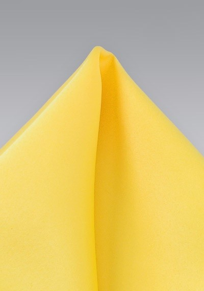 Bright Sunbeam Yellow Pocket Square