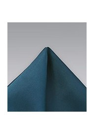 Turquoise Blue Microfiber Pocket Square