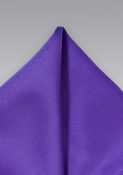 Solid Regency Purple Pocket Square
