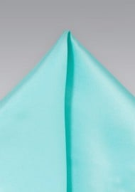 Solid Turquoise Blue Pocket Square