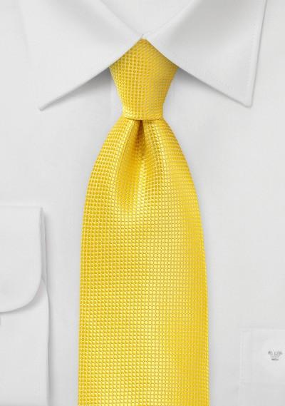 Art Deco Tie in Primary Yellow