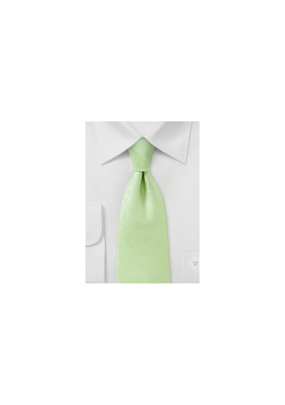 Heathered Tie in Lime
