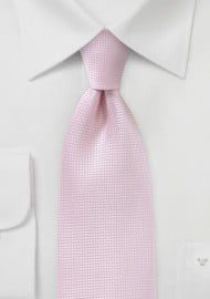 Textured Tie in Tea Rose