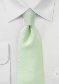 Ribbed Tie in Light Green