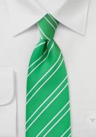 Modern Grass Green And White Striped Tie Bows N Ties Com