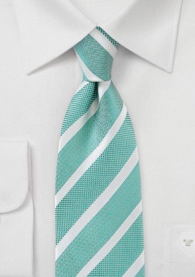 Jade Green Detailed Necktie