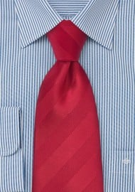 Tonal Striped Kids Tie in Bright Reds