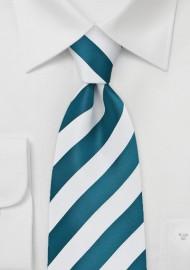 Horizon Blue Striped Tie in XL Length