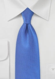 Textured Tie in Marine Blue