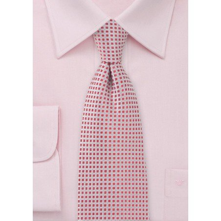 Persimmon and Silver Neck Tie