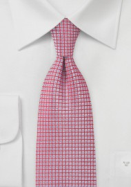 Cherry and Blue Jay Checked Tie