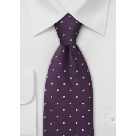Eggplant Polka Dot XL Tie