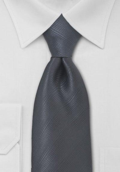 Charcoal Gray Mens XL Tie