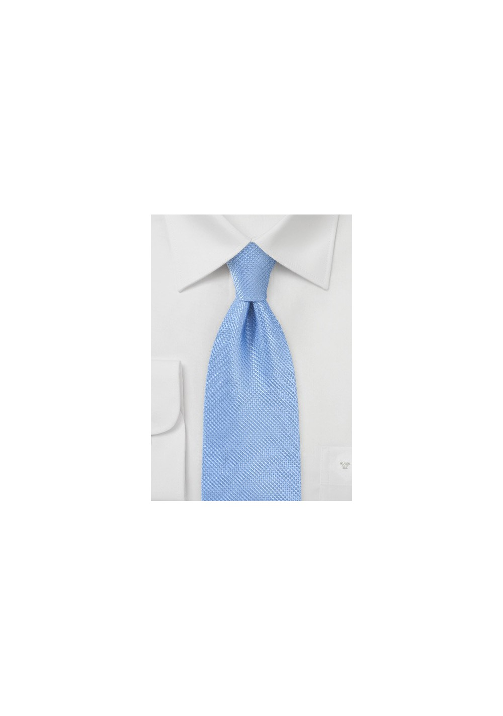Hydrangea Blue Tie made from Pure Silk