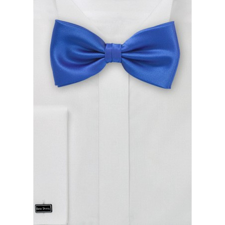 Solid Horizon Blue Bow Tie