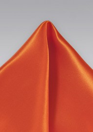 Tuscan Orange Pocket Square