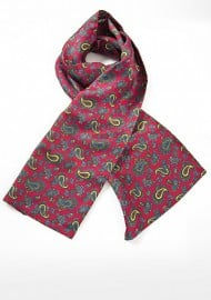 Elegant Paisley Scarf in Imperial Red