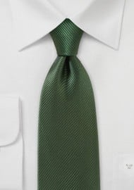 Moss Colored Tie with Elegant Satin Finish