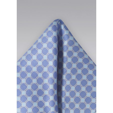 Graphic Pocket Square in Blues