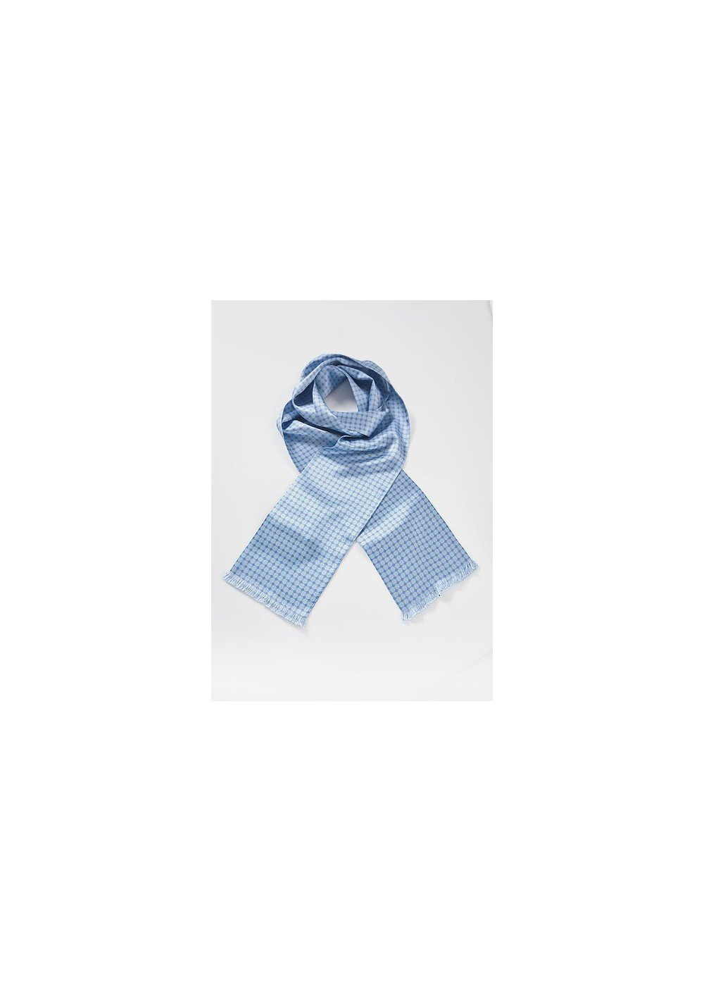 Art Deco Scarf in French Blues