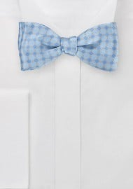 Patterned Bow Tie in French Blues