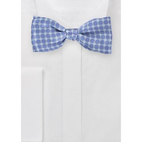 Art Deco Patterned Bow Tie in Blues