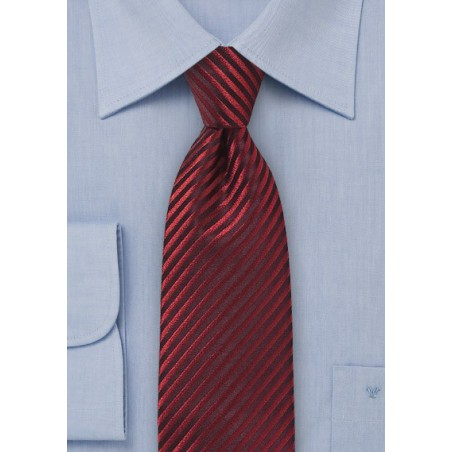 Narrow Striped Tie in Pure Silk Using Intricately Weave Technique