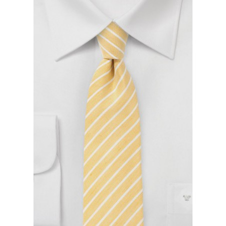 Summer Yellow Skinny Tie