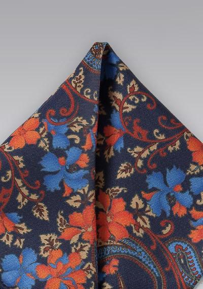 Vintage Floral Pocket Square