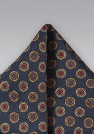 Vintage Pocket Square in Midnight Blue